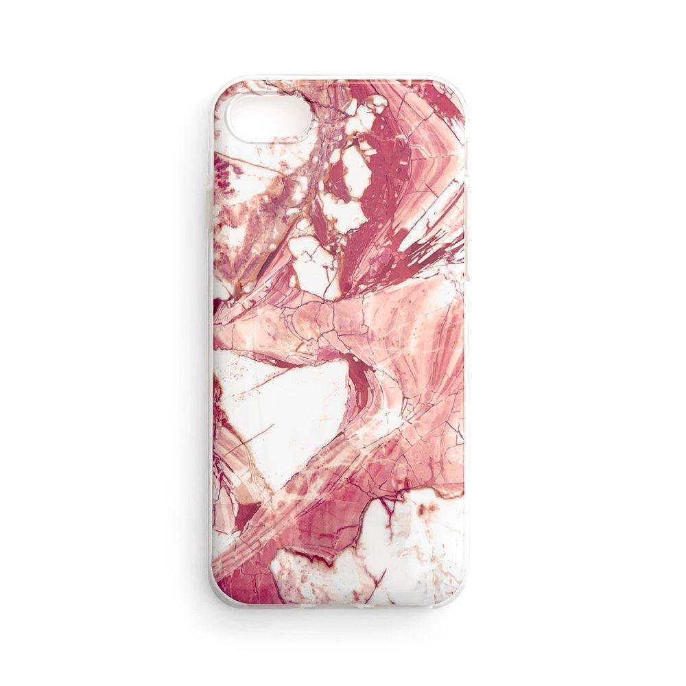 Zadní silikonový kryt na mobil Marble pro Samsung Galaxy A02s EU , růžová 9111201931886