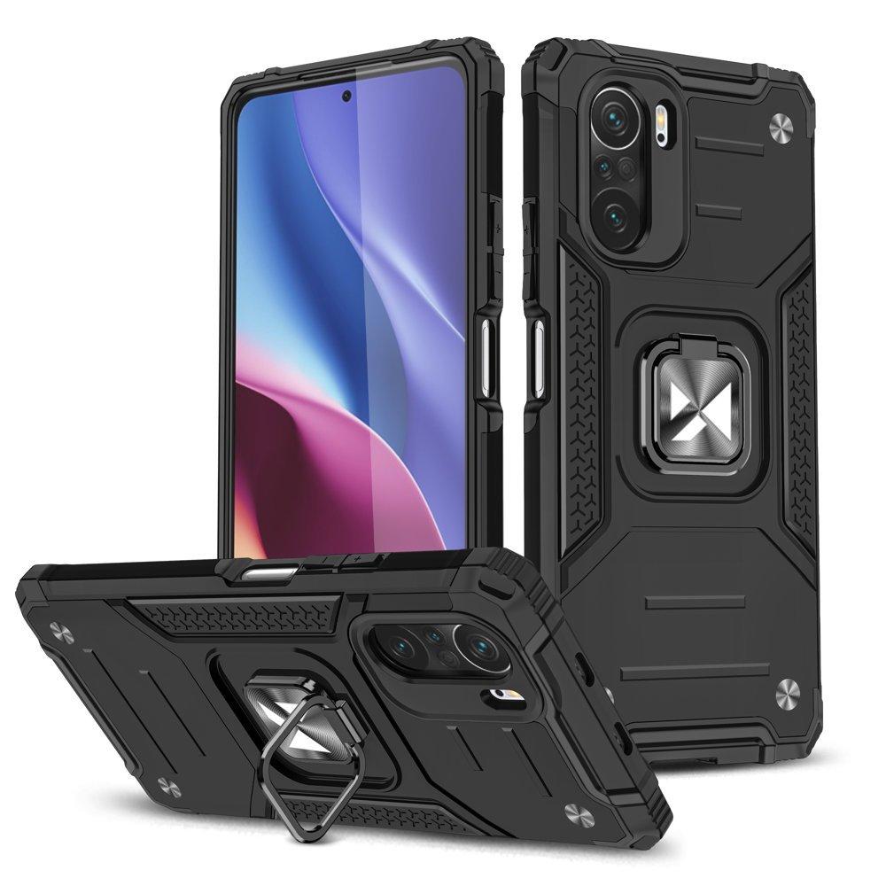 Wozinsky Hybrid pancierové púzdro s krúžkom pre Xiaomi Poco F3 / Mi 11i black
