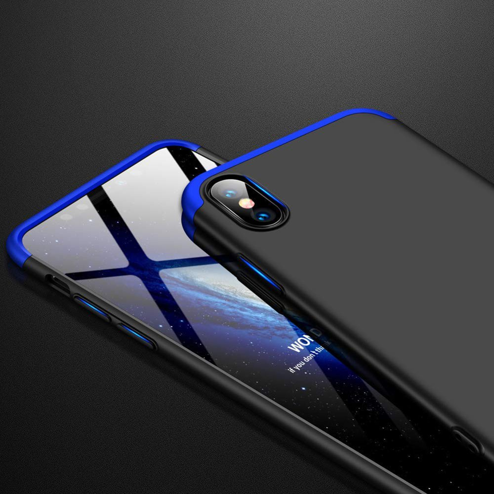 GKK 360 Protection pouzdro pro iPhone XS Max black-blue