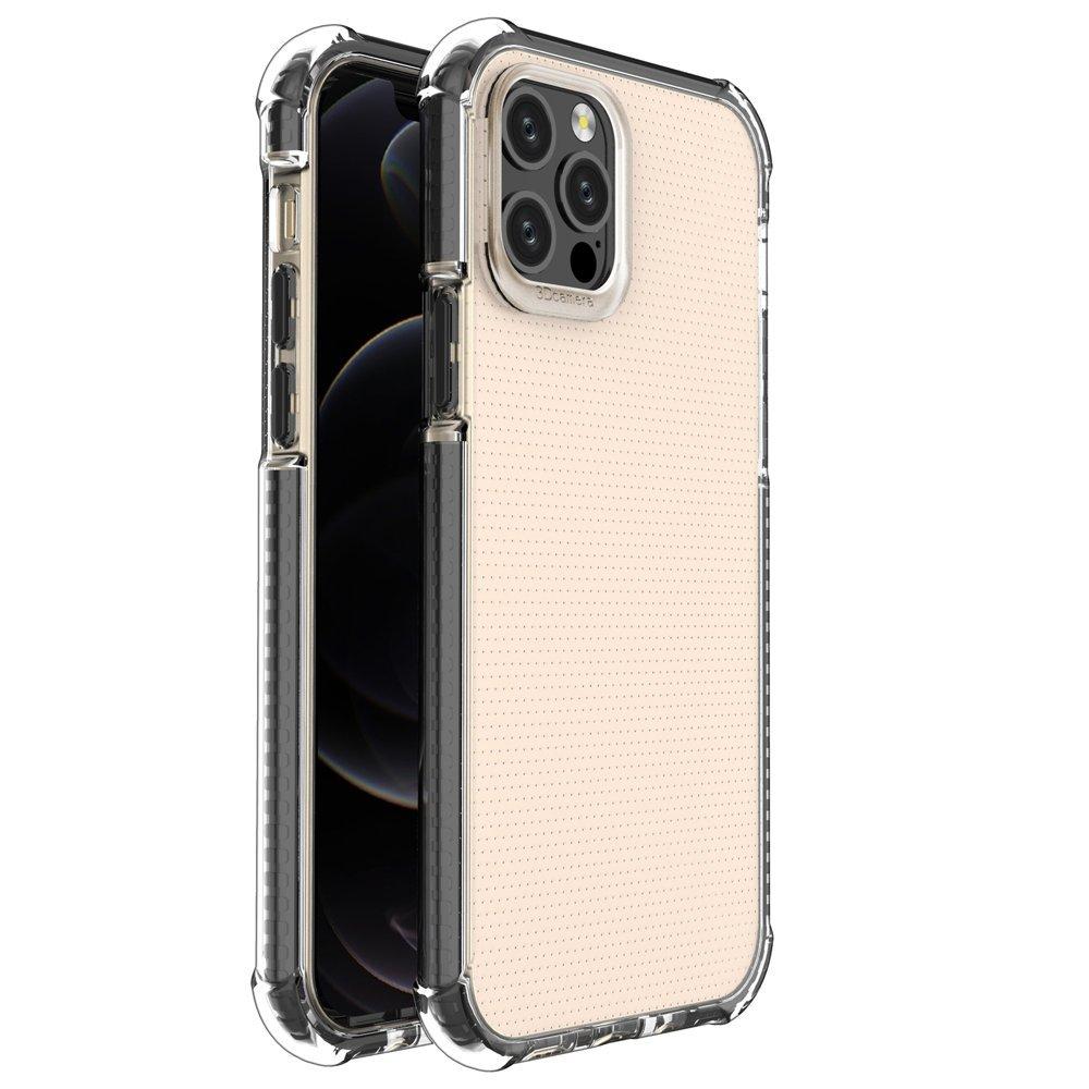 """Spring Armor silikonové pouzdro s barevným lemem na iPhone 12 / 12 Pro 6,1""""black"""