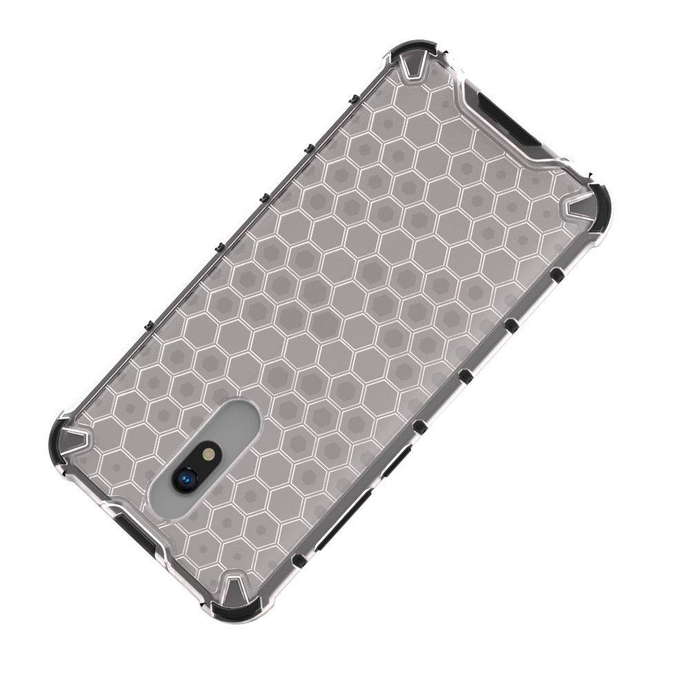 Honeycomb pancéřové pouzdro se silikonovým rámem na Xiaomi Redmi 8A / Xiaomi Redmi 8 blue