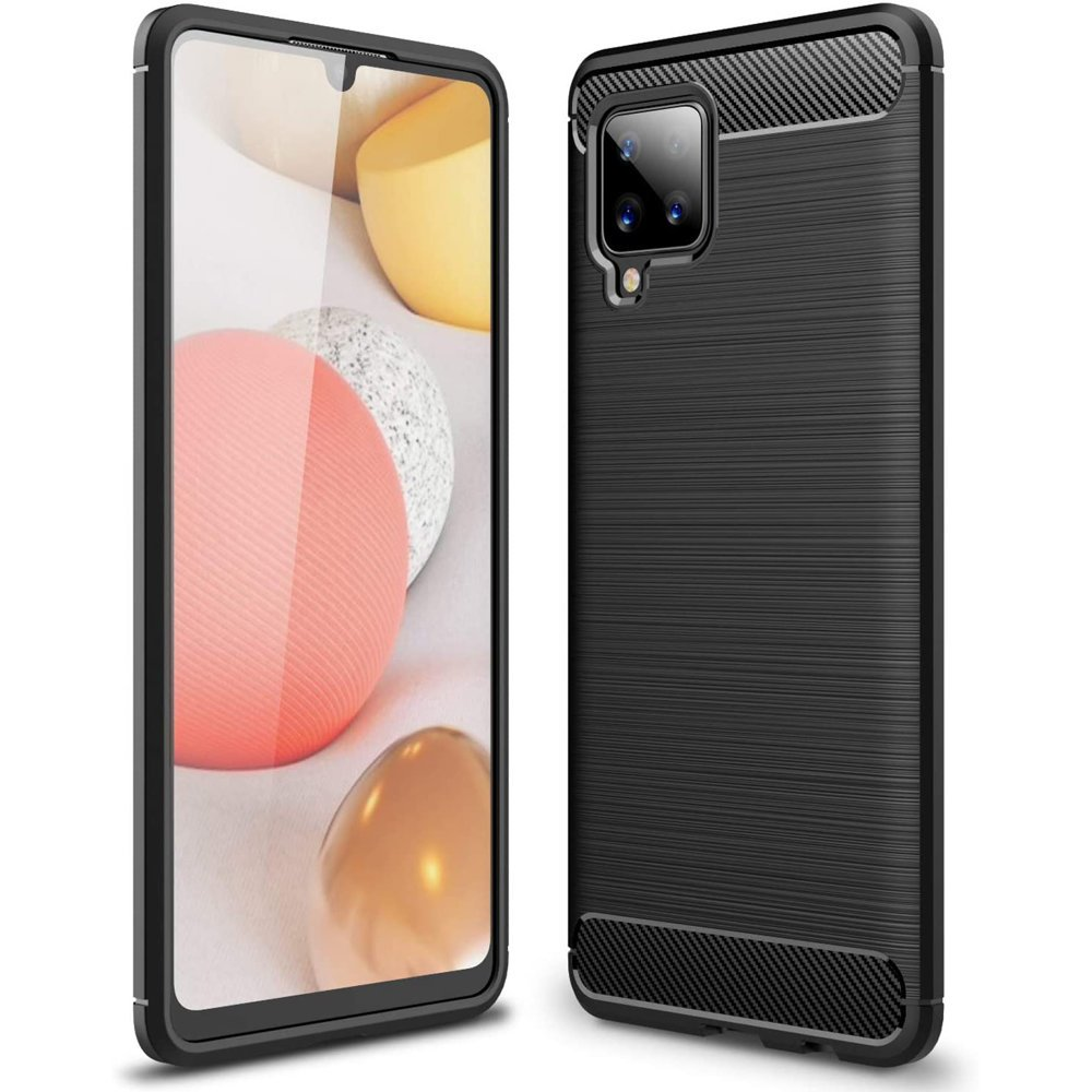Carbon silikonové pouzdro naSamsung Galaxy A42 5G black