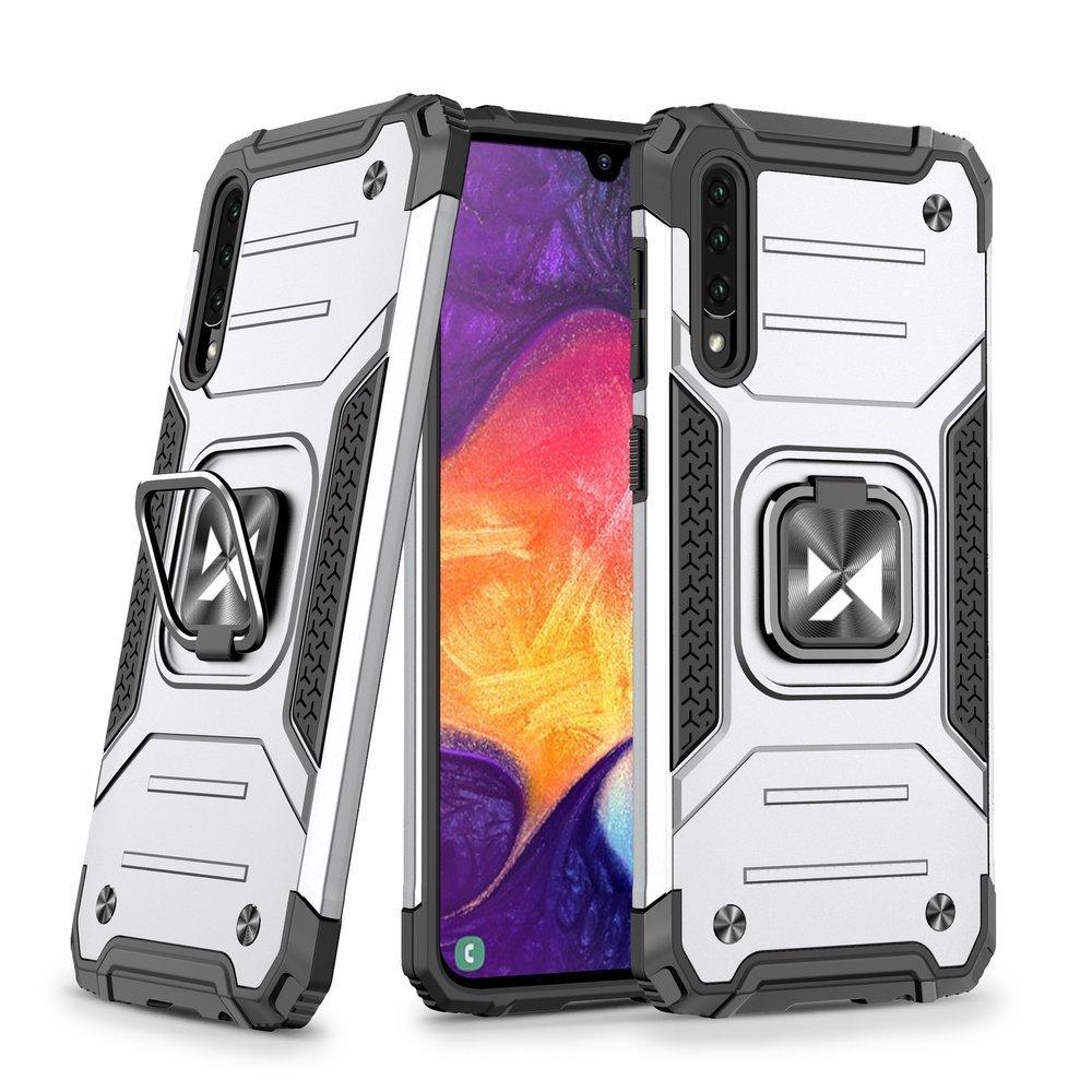 Wozinsky Hybrid pancierové púzdro s krúžkom pre Samsung Galaxy A51 silver