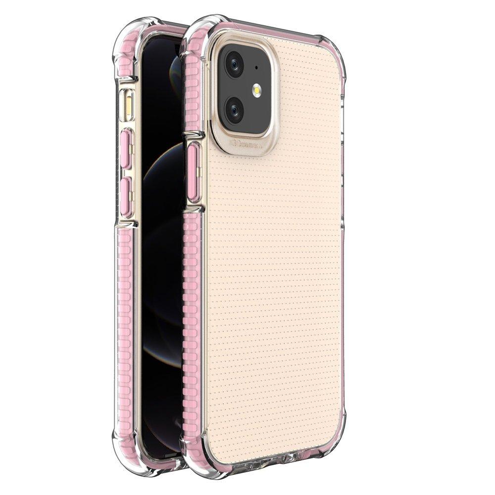 """Spring Armor silikonové pouzdro s barevným lemem na iPhone 12 Mini 5,4"""" pink"""