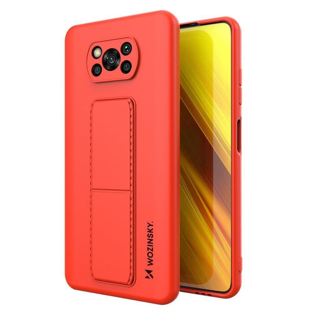 Wozinsky Flexibilní silikonové pouzdro se stojánkem na Xiaomi Poco X3 Pro / X3 NFC red