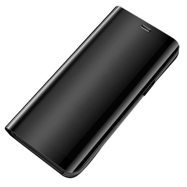 Knižkove púzdro pre Samsung Galaxy A51 black s priehľadnou prednou stranou