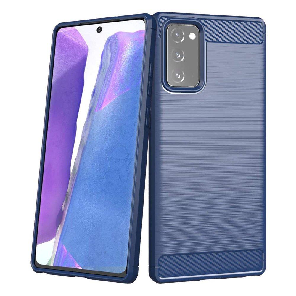 Carbon silikónové puzdro na Samsung Galaxy Note 20 blue