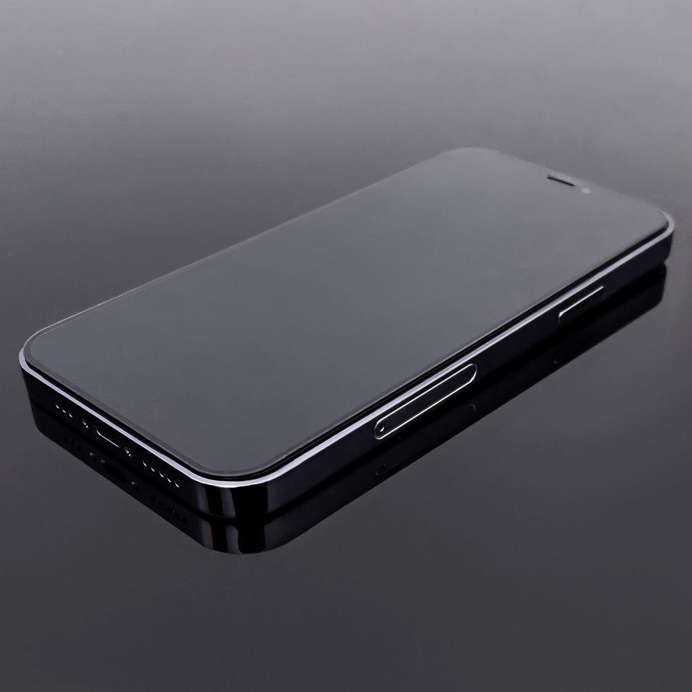 """Wozinsky Celoplošně lepené temperované tvrzené sklo 9H na iPhone 12 Mini (5.4"""") black"""