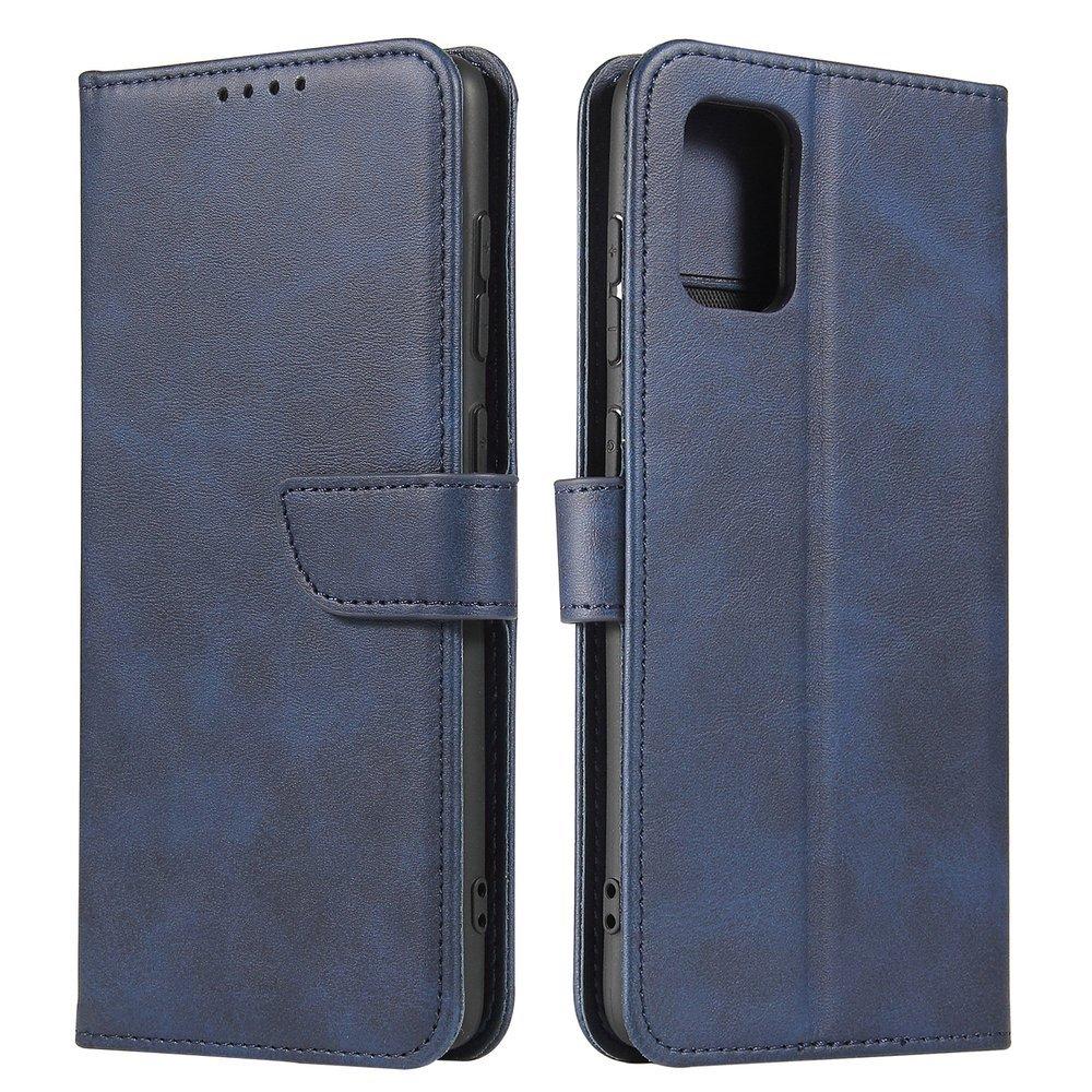 Kožené flipové pouzdro Magnet Case pro  Samsung Galaxy A71 5G , modrá 9111201921658