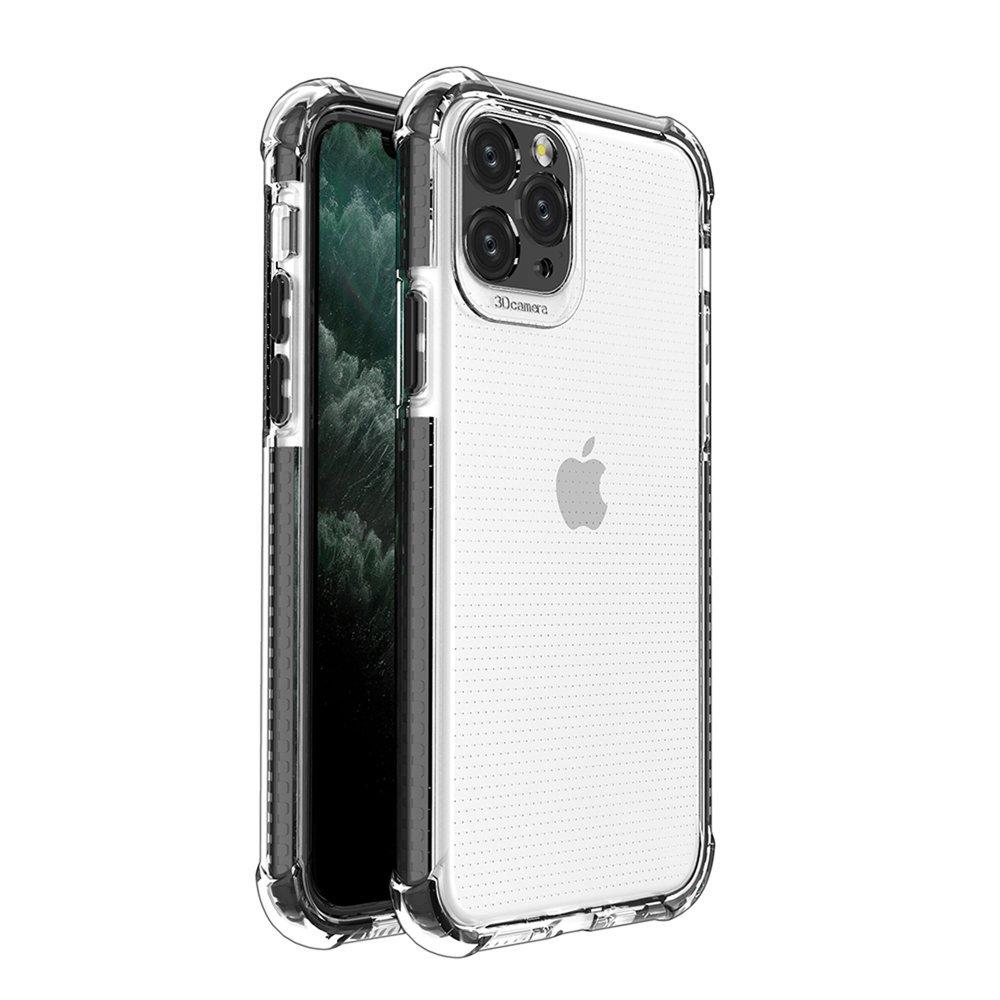 Spring Armor silikónové puzdro s farebným lemom pre iPhone 11 Pro black