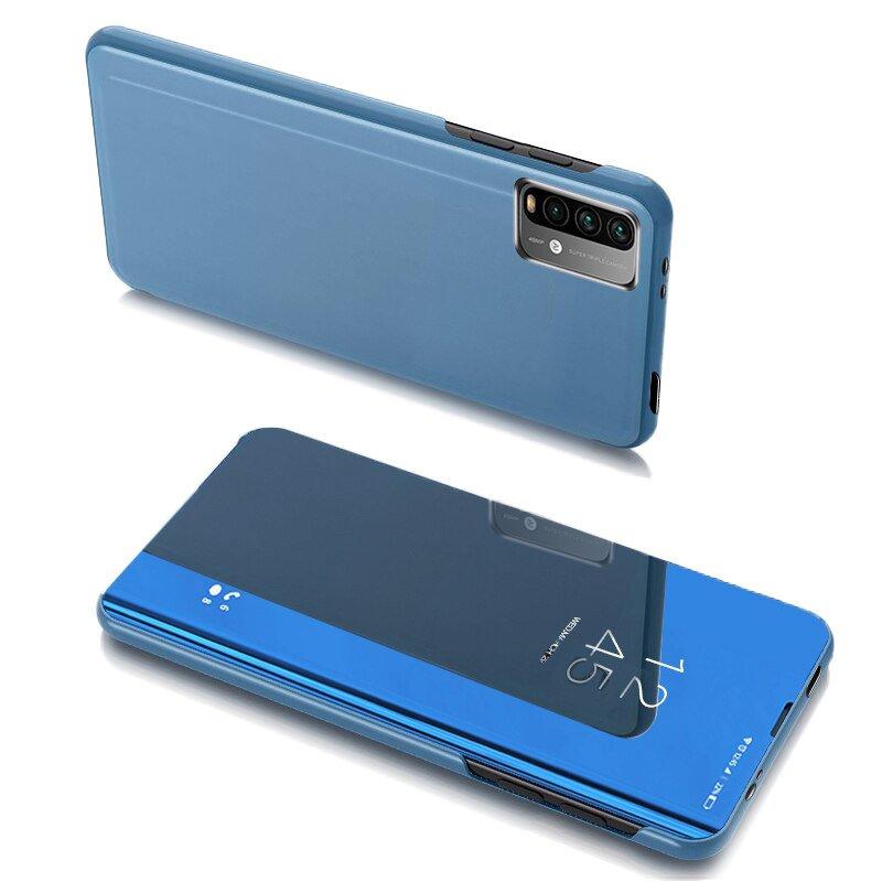 Knižkove púzdro pre Xiaomi Redmi 9T / Poco M3 blue s priehľadnou prednou stranou