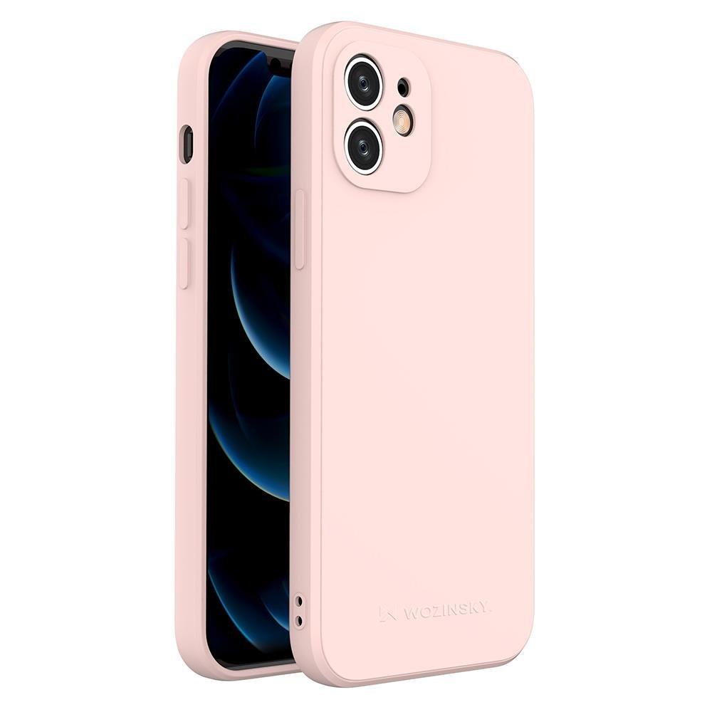 Wozinsky Color Case silikónové puzdro na iPhone 12 pink