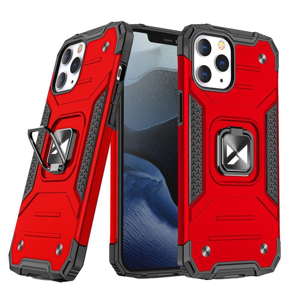 """Wozinsky Hybrid pancéřové pouzdro s kroužkem naiPhone 13 Pro 6.1"""" red"""