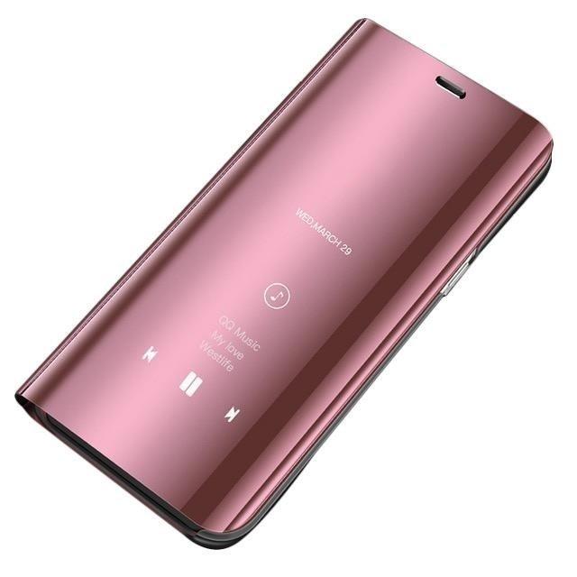 Knížkové pouzdro pro Xiaomi Redmi 7A pink s průhlednou přední stranou