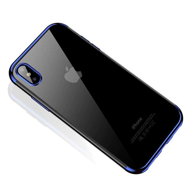 Color Electroplating silikonové pouzdro pro Xiaomi Redmi Note 7 blue