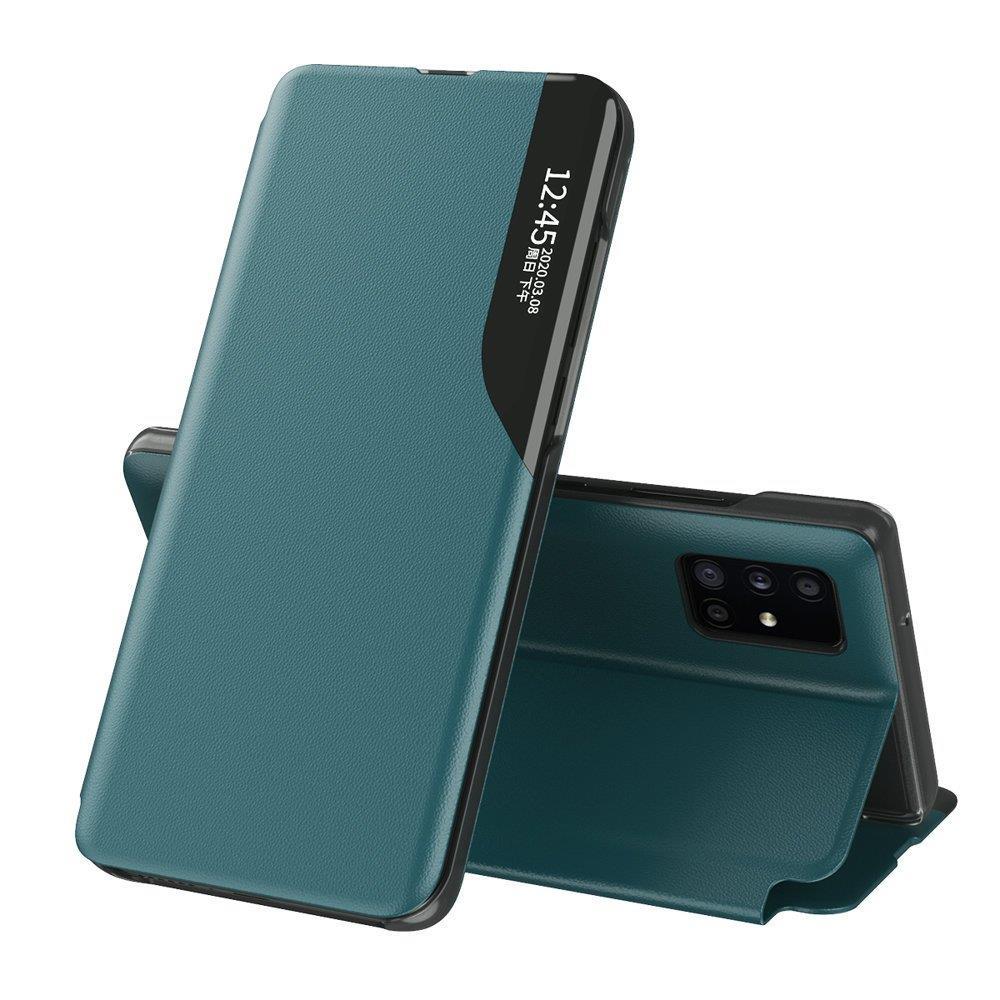 Knížkové puzdro s imitáciou kože pre Samsung Galaxy S20 PLUS green
