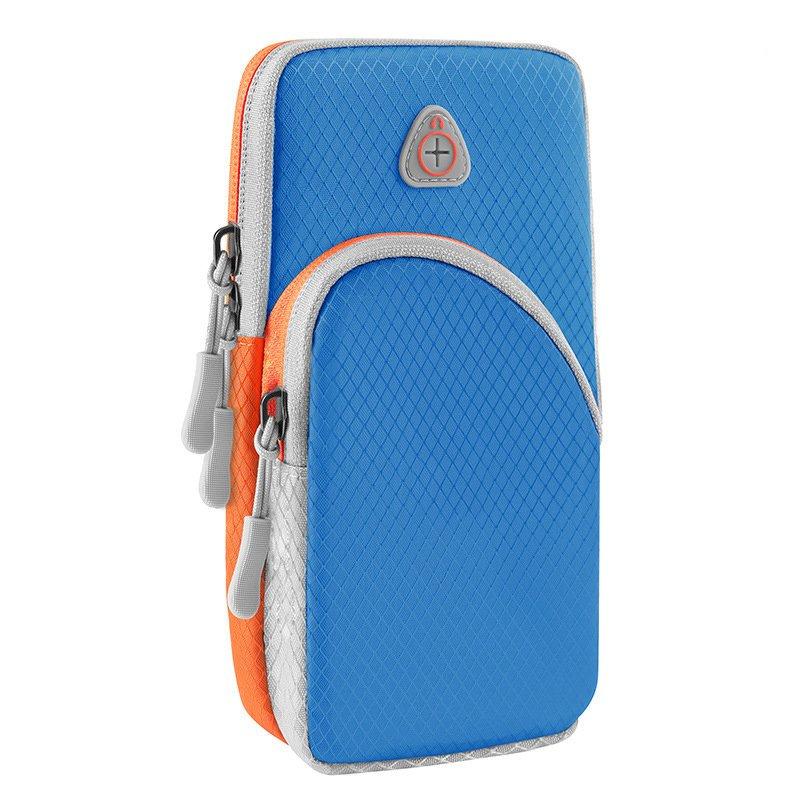 Běžecké pouzdro pro mobil na ruku, univerzální jasně, modrá 9111201926165