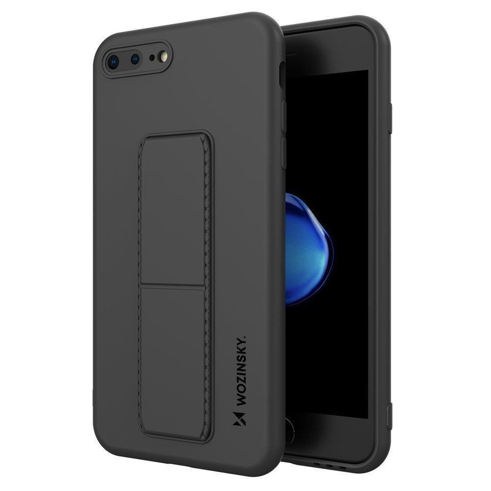 Wozinsky Flexibilné silikónové puzdro so stojanom na iPhone 8 Plus / iPhone 7 Plus black
