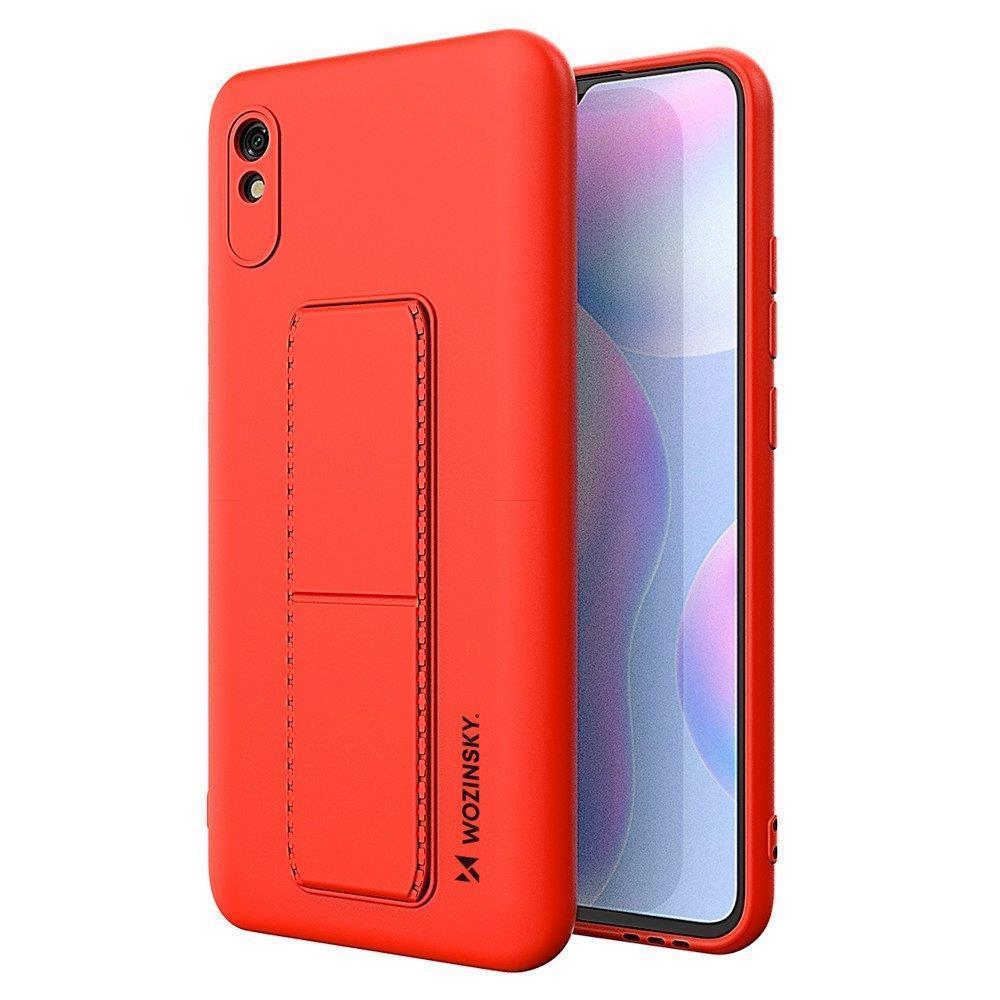 Wozinsky Flexibilní silikonové pouzdro se stojánkem na Xiaomi Redmi 9A / 9AT red