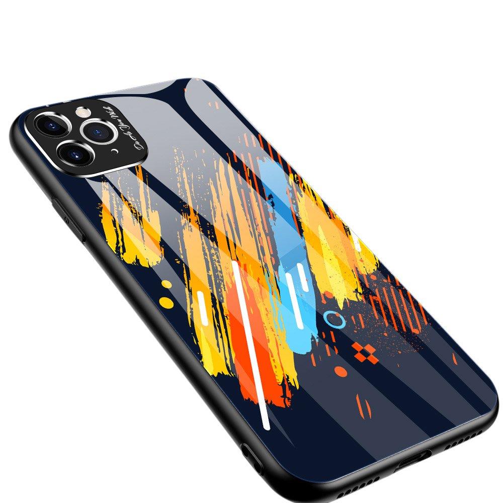 Color Glass kryt z tvrzeného skla 9H + ochrana fotoaparátu na iPhone 11 Pro Max pattern 5