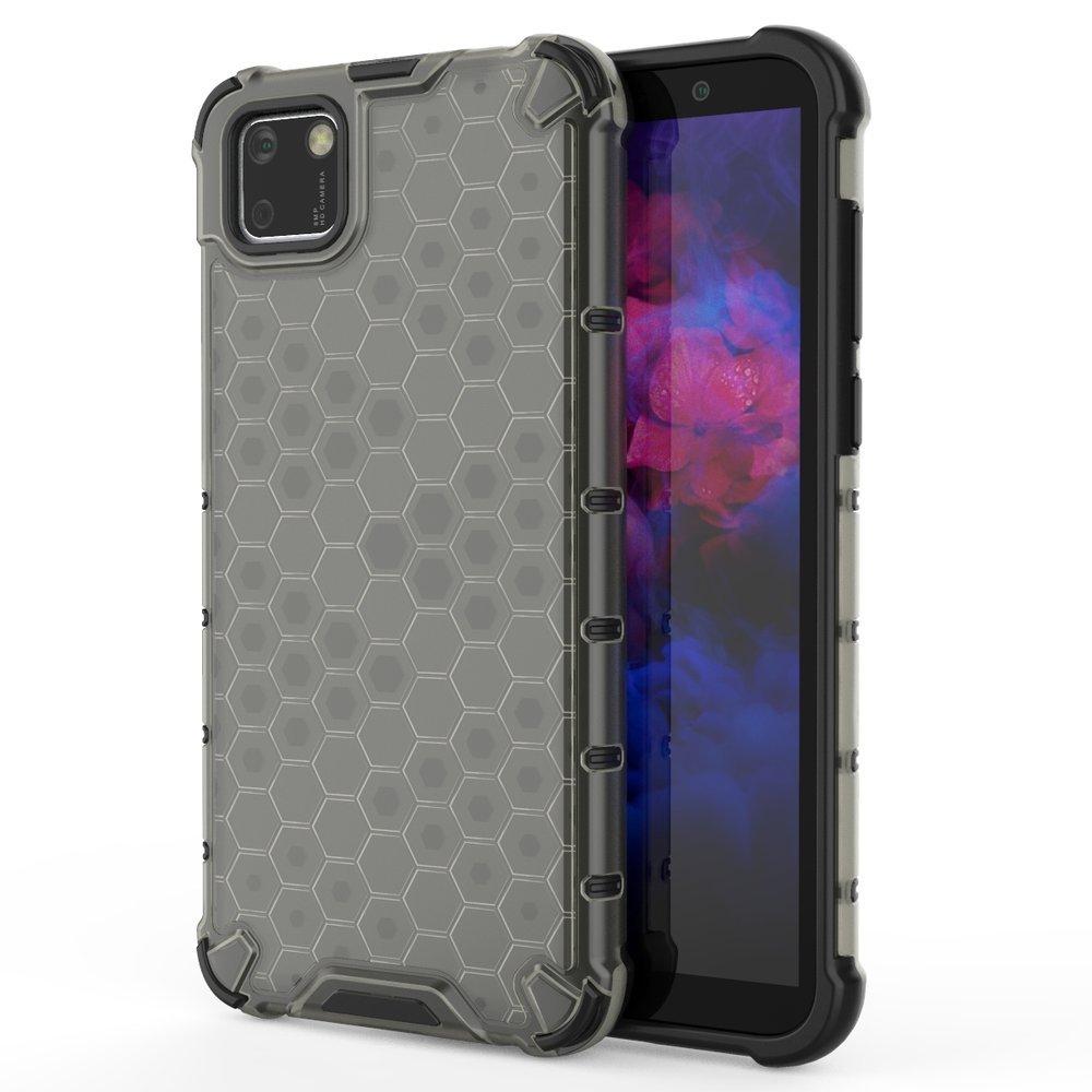 Honeycomb pancéřové pouzdro se silikonovým rámem na Huawei Y5p black