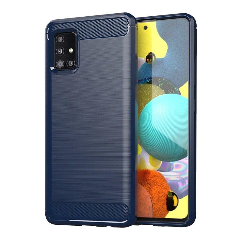 Carbon silikonové pouzdro na Samsung Galaxy M31s blue