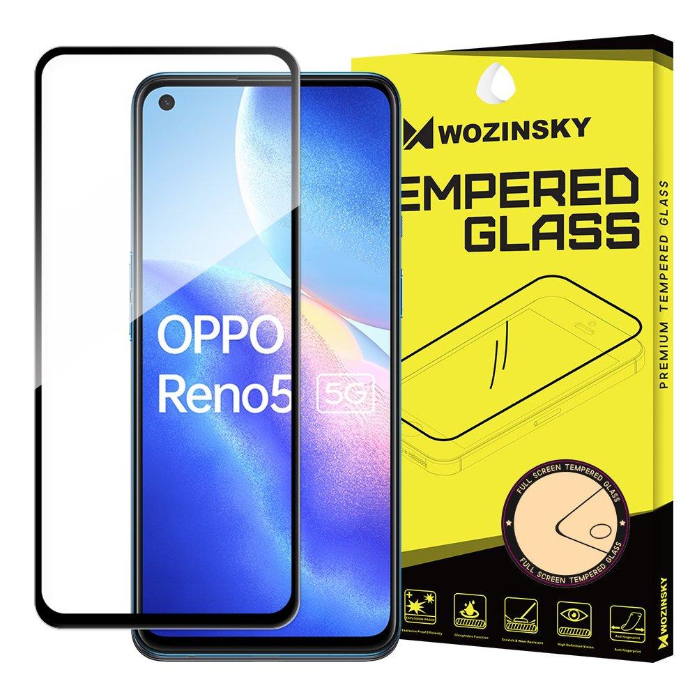 5D tvrzené sklo s rámečkem pro Oppo Reno 5 5G / Reno 5 4G / Find X3 Lite , černá 9111201930803