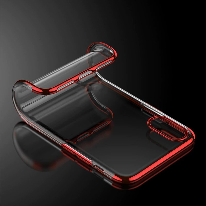 Color  Electroplating silikonové pouzdro pro Xiaomi Redmi Note 7 black