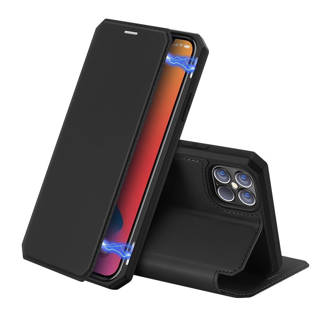 """DUX DUCIS Skin X knížková puzdro na pre iPhone 12 Pro Max (6.7"""") black"""