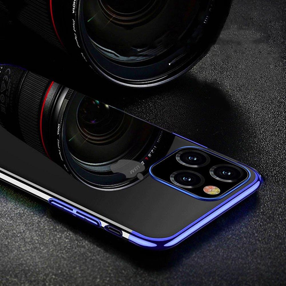 "Color Electroplating silikonové pouzdro na iPhone 12 Pro Max 6.7"" black"