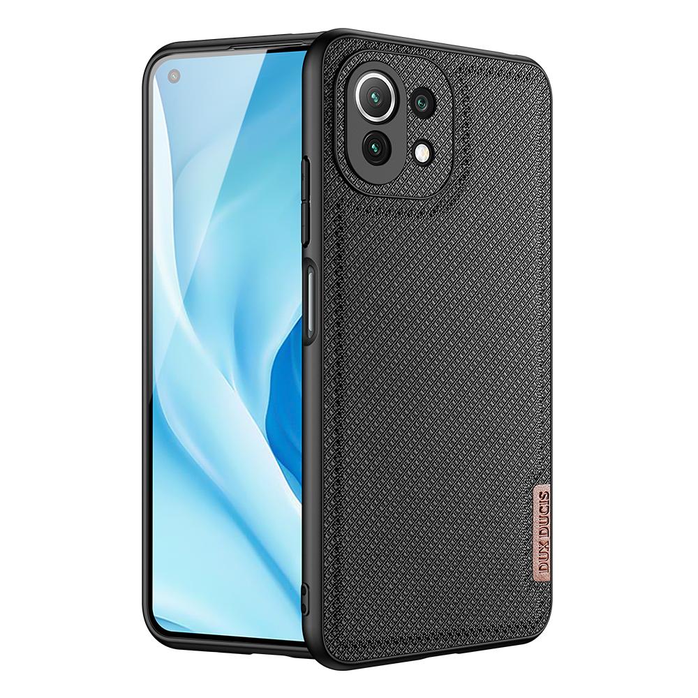 Luxusní pouzdro Dux Ducis Fino Nylon ,  Xiaomi Mi 11 Lite 5G , černá 6934913050156