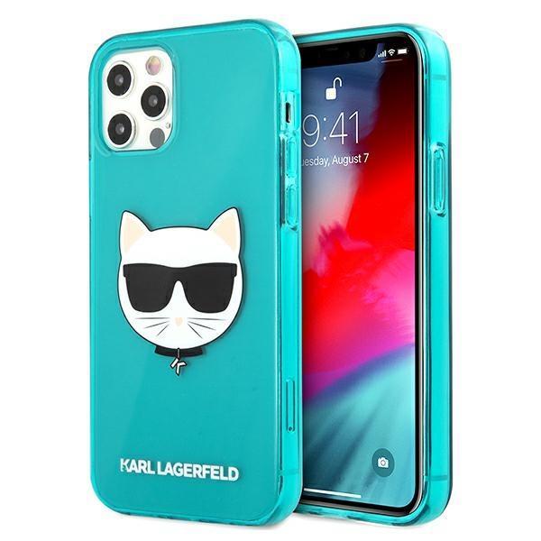 Karl Lagerfeld KLHCP12LCHTRB iPhone 12 Pro Max 6,7 & quot; modro / modrý tvrdý lesklý choupette fluo