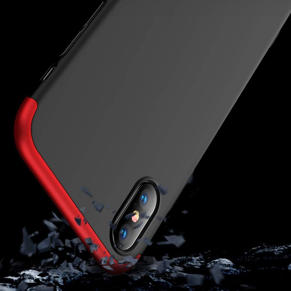 GKK 360 Protection pouzdro pro iPhone X black-red