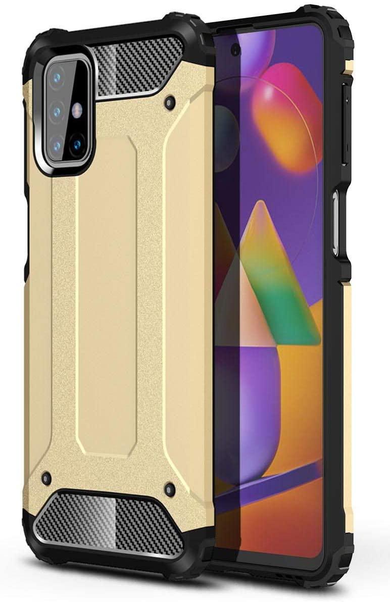 Hybrid pancéřové polykarbonátové pouzdro na Samsung Galaxy M31s golden