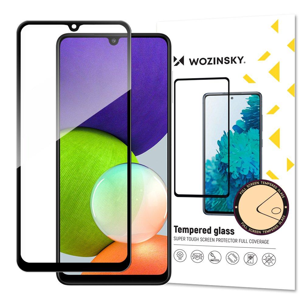 Wozinsky Celoplošně lepené tvrzené sklo 9H na Samsung Galaxy A22 4G black