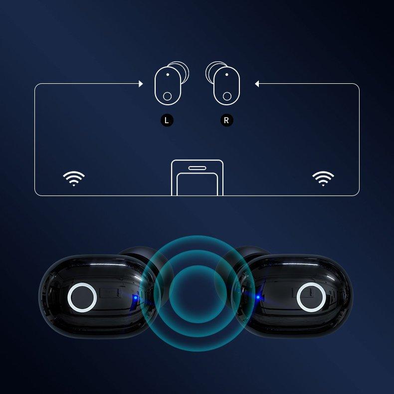 Sluchátka Bluetooth TWS Proda PD-BT500 Black