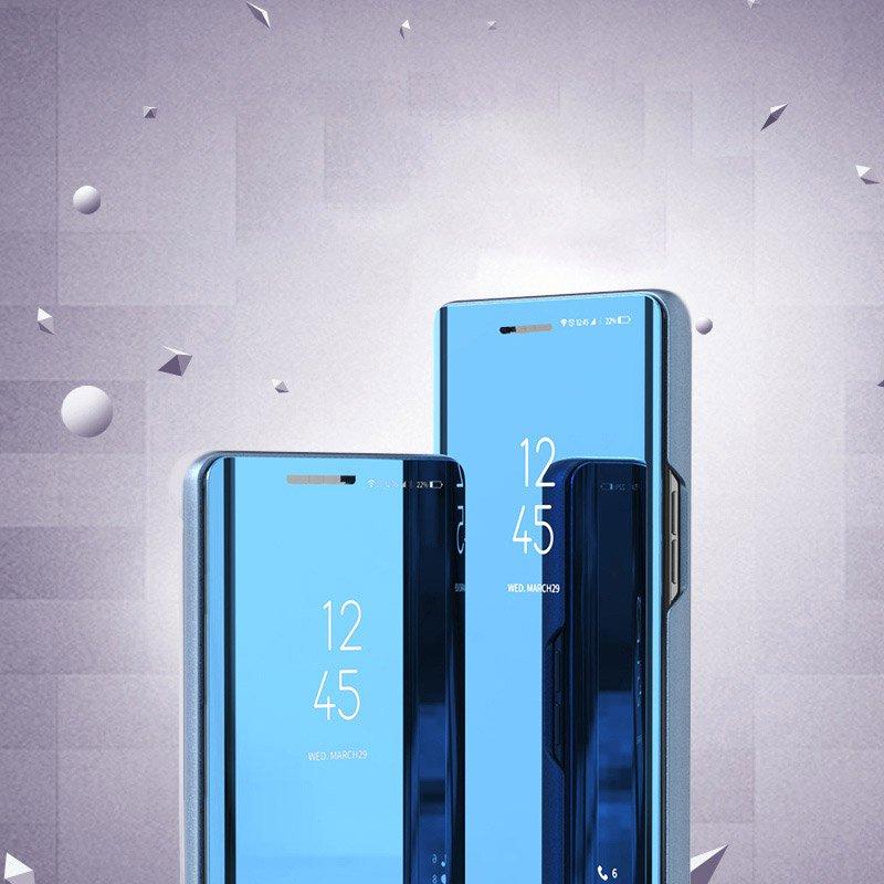 Knížkové pouzdro na Huawei Y6p Black s průhlednou přední stranou