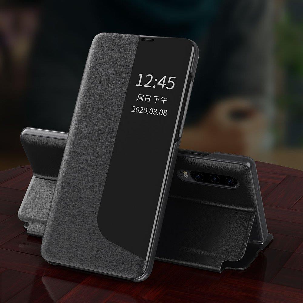 Knížkové pouzdro s imitací kůže na Huawei Y6p / Honor 9A purple
