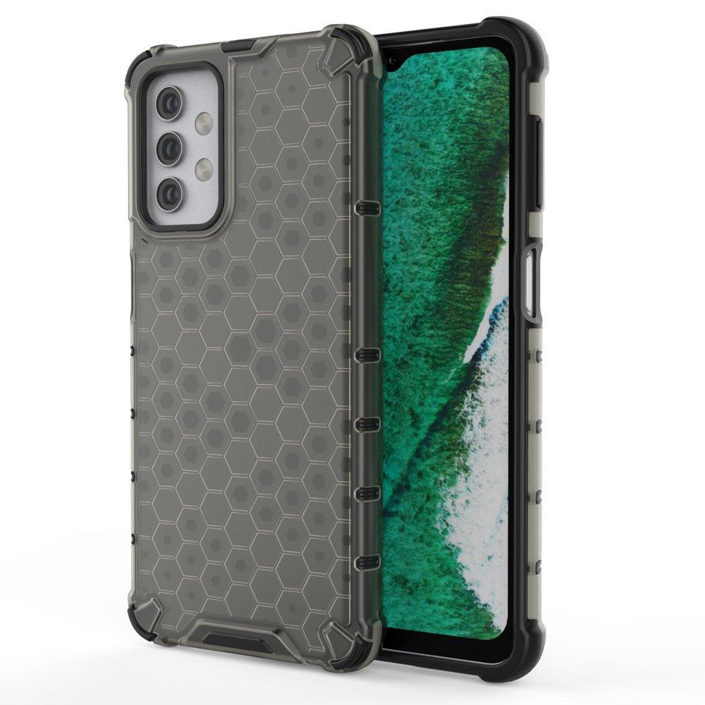 Honeycomb pancéřové pouzdro se silikonovým rámem pro Samsung Galaxy A32 5G black