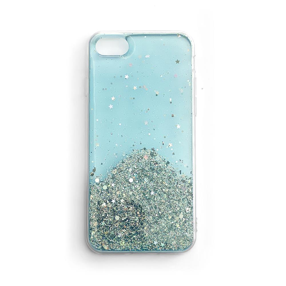 Wozinsky Star Glitter silikónové puzdro pre Samsung Galaxy S21 5G blue