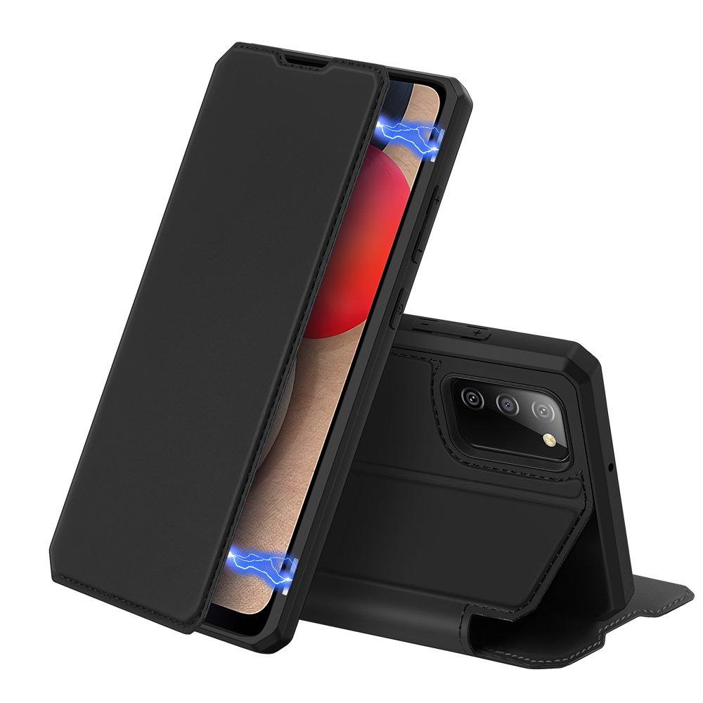 Flipové pouzdro Dux Ducis skin na Samsung Galaxy A02s EU , černá 6934913052464