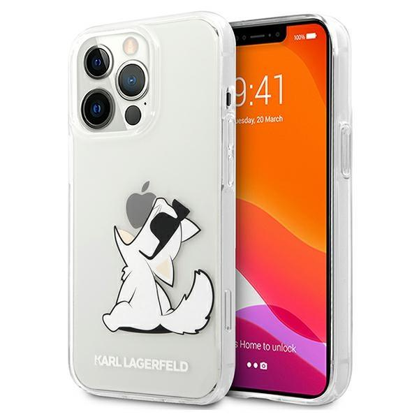 "Karl Lagerfeld KLHCP13XCFNRC iPhone 13 Pro Max, 6,7 ""pevný obal, transparentná choupette Fun"