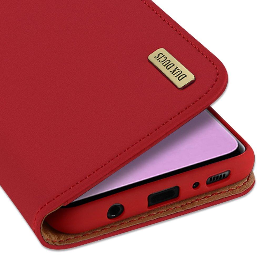 DUX DUCIS Wish kožené pouzdro pro Samsung Galaxy S10 red