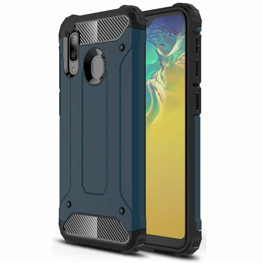 Hybrid polykarbonátové pouzdro Samsung Galaxy A20e blue