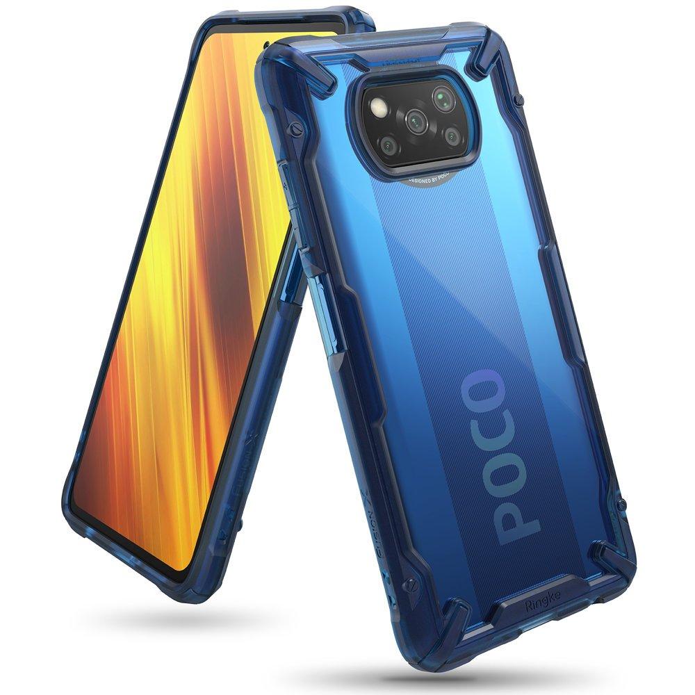 Ringke Fusion X pancéřové pouzdro na Xiaomi Poco X3 Pro / X3 NFC blue