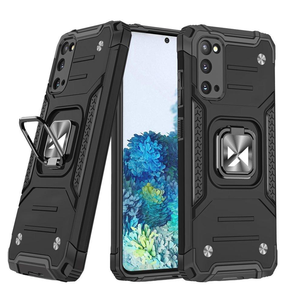 Wozinsky Hybrid pancierové púzdro s krúžkom pre Samsung Galaxy S20 black