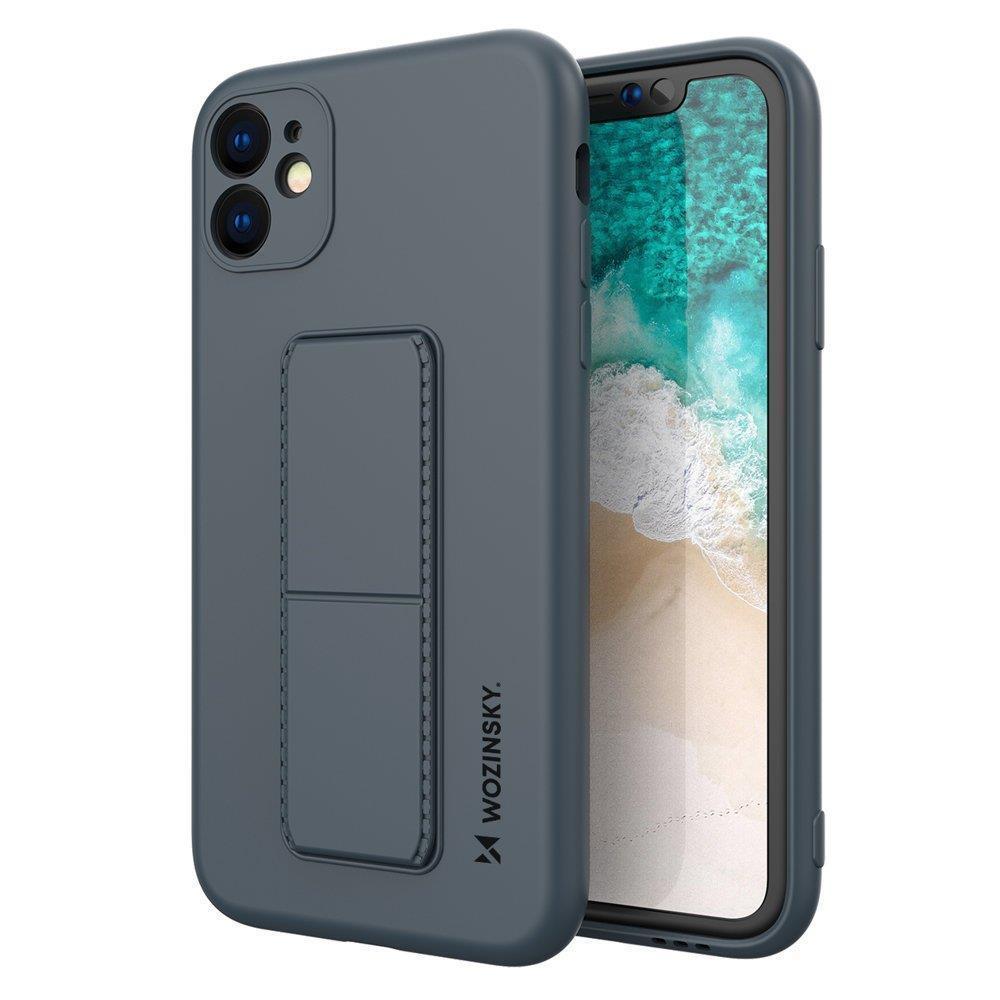 """Wozinsky Flexibilné silikónové puzdro so stojanom na iPhone 12 Mini 5,4"""" navy blue"""