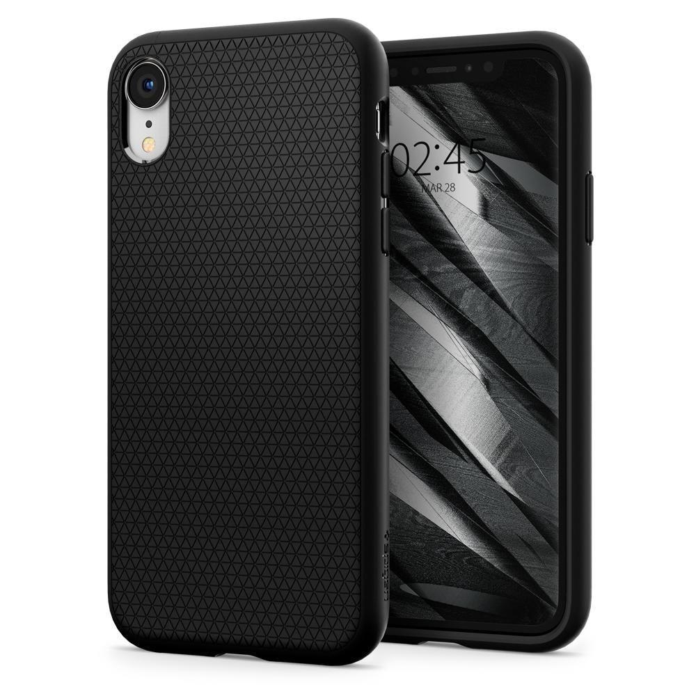Spigen Liquid Air silikónové puzdro pre iPhone XR Matte Black