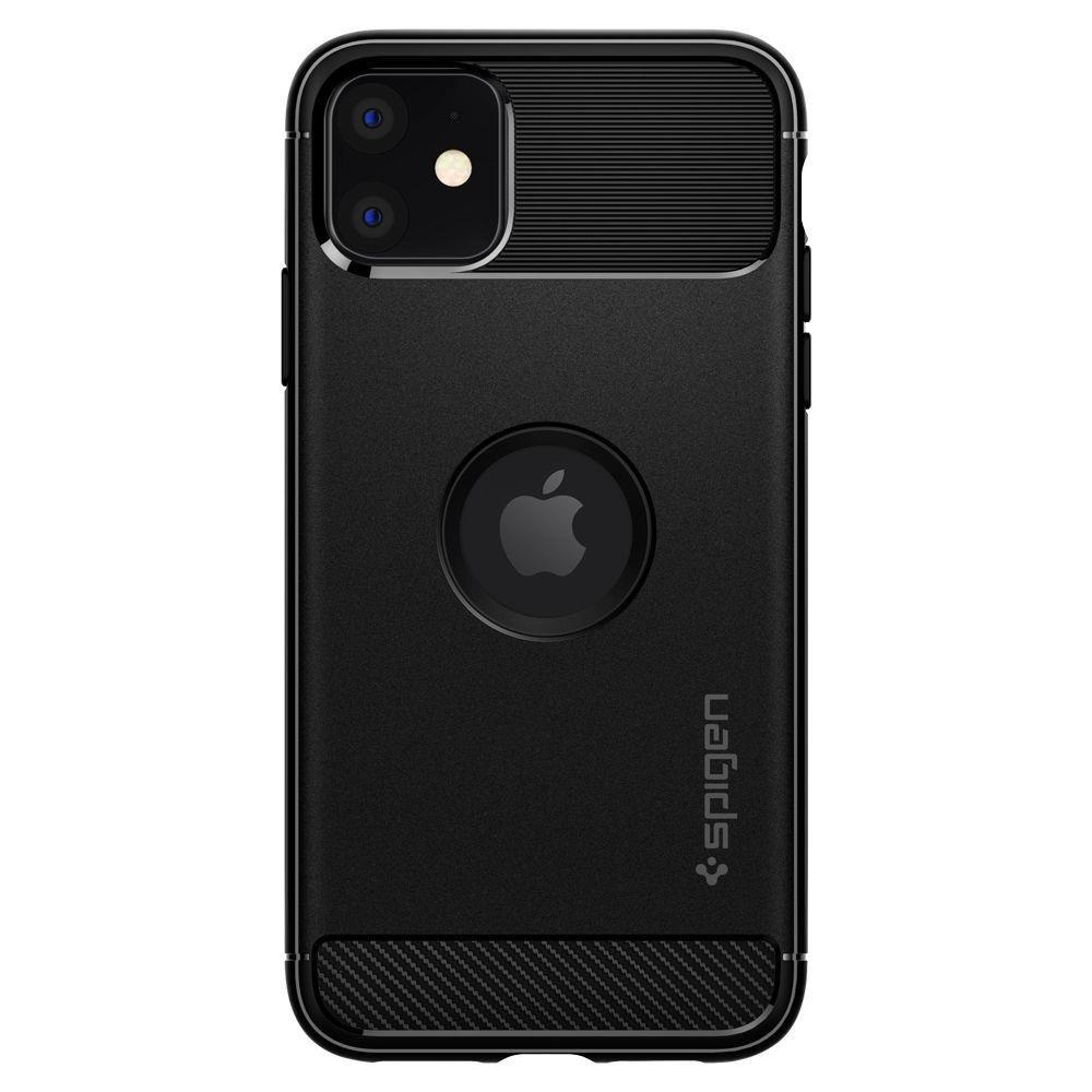 Spigen Rugged Armor silikonové pouzdro na iPhone 11 Matte Black