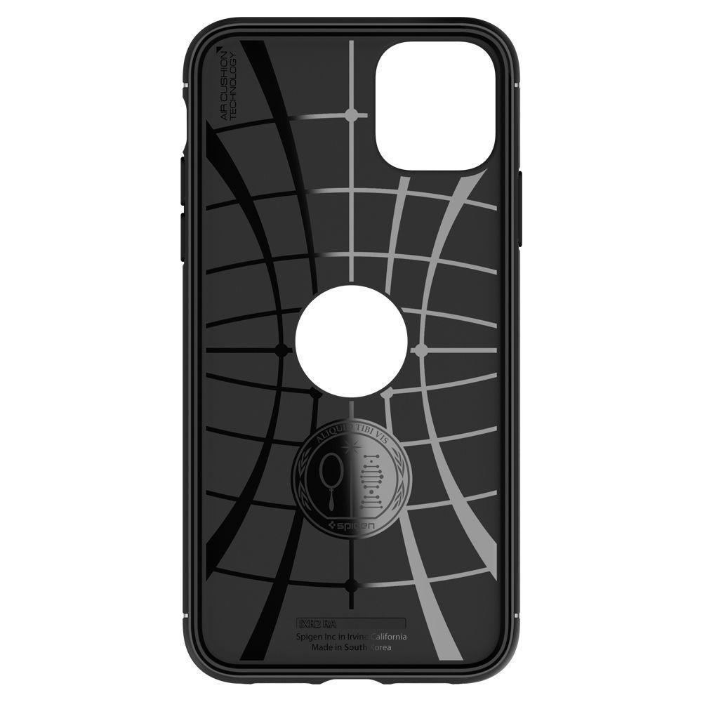 Spigen Rugged Armor silikónové puzdro pre iPhone 11 Matte Black